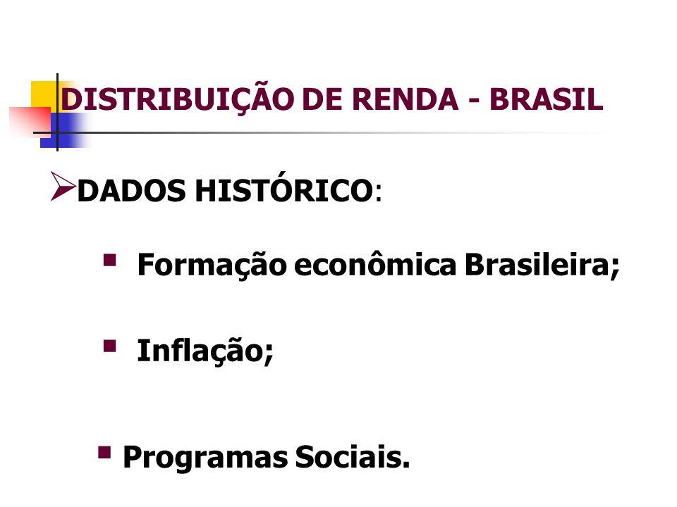 DISTRIBUIÇÃO DE RENDA - BRASIL