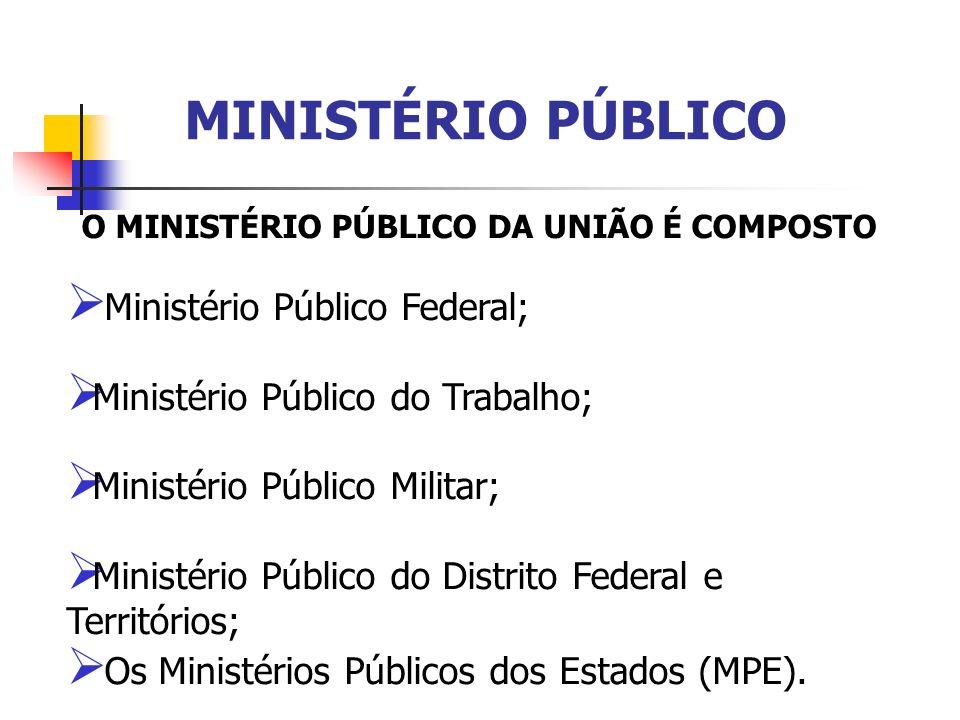 O MINISTÉRIO PÚBLICO DA UNIÃO É COMPOSTO