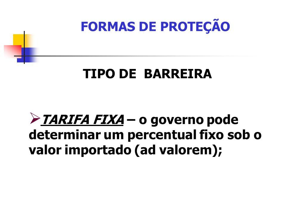 FORMAS DE PROTEÇÃO TIPO DE BARREIRA.