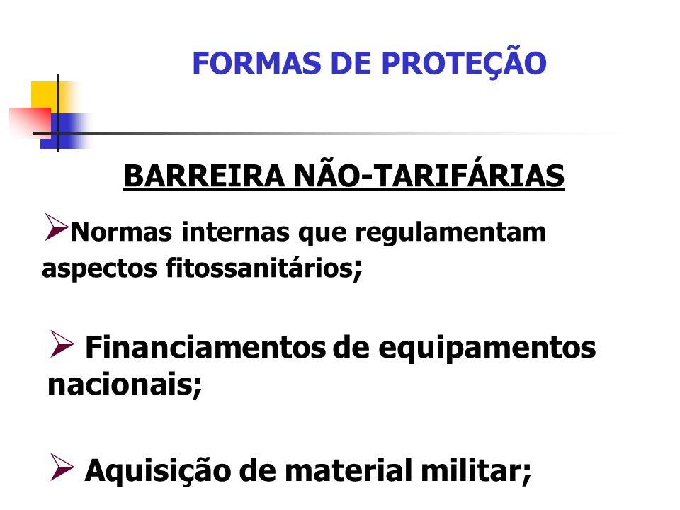 BARREIRA NÃO-TARIFÁRIAS