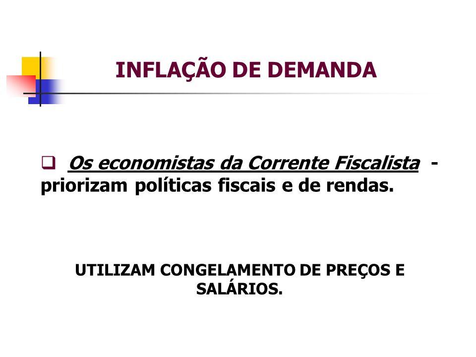 UTILIZAM CONGELAMENTO DE PREÇOS E SALÁRIOS.