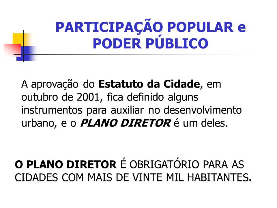 PARTICIPAÇÃO POPULAR e PODER PÚBLICO