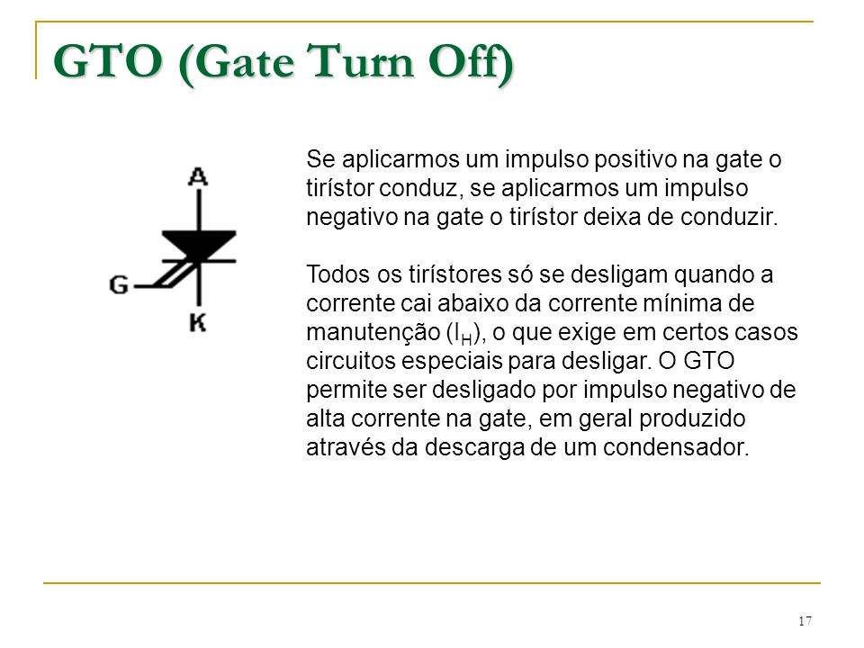 GTO (Gate Turn Off)