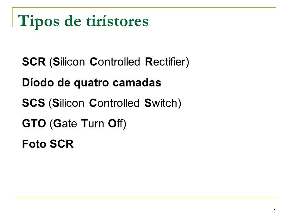 Tipos de tirístores SCR (Silicon Controlled Rectifier)