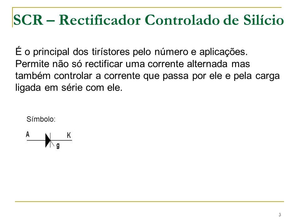 SCR – Rectificador Controlado de Silício