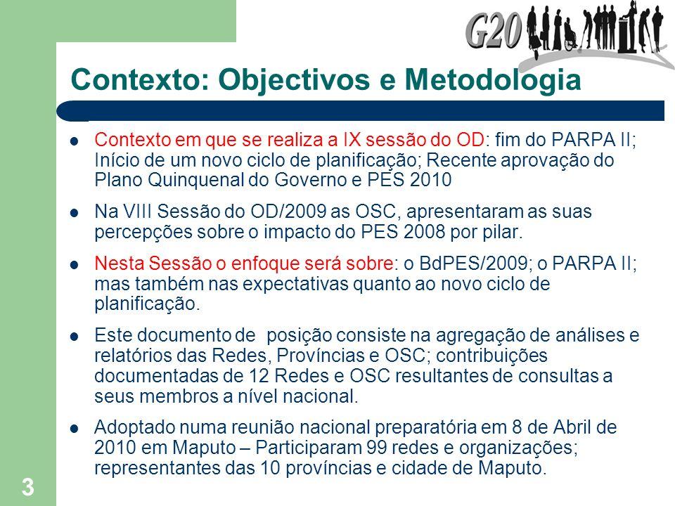 Contexto: Objectivos e Metodologia