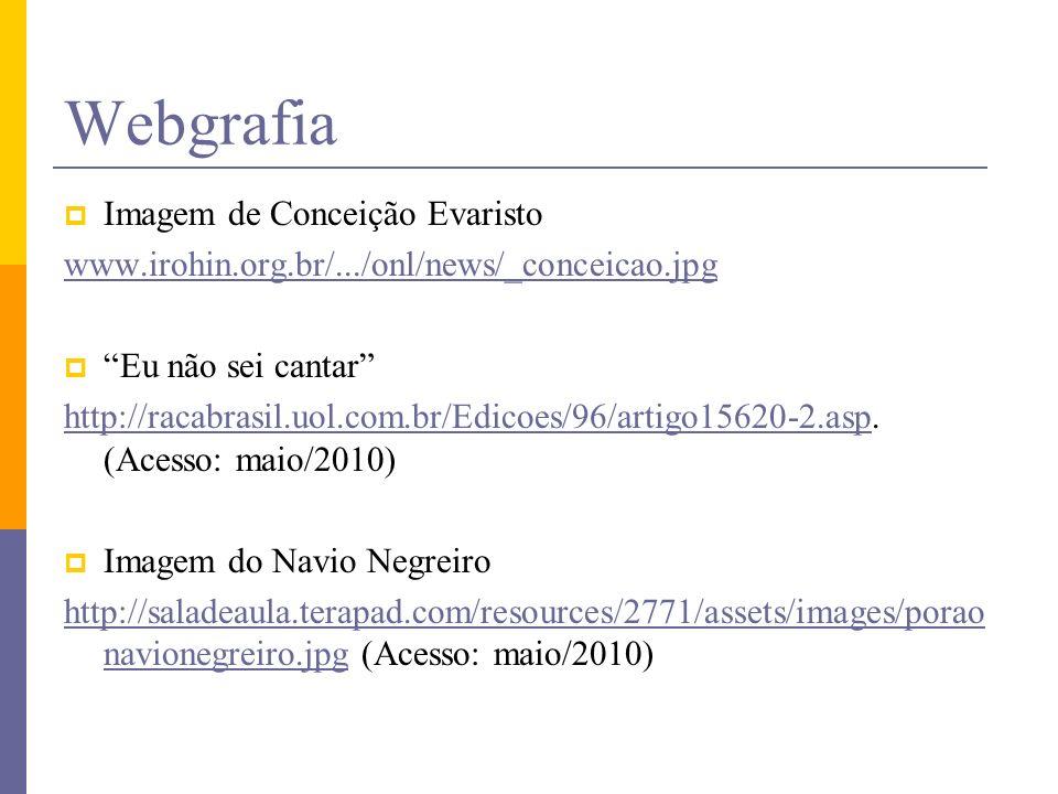 Webgrafia Imagem de Conceição Evaristo