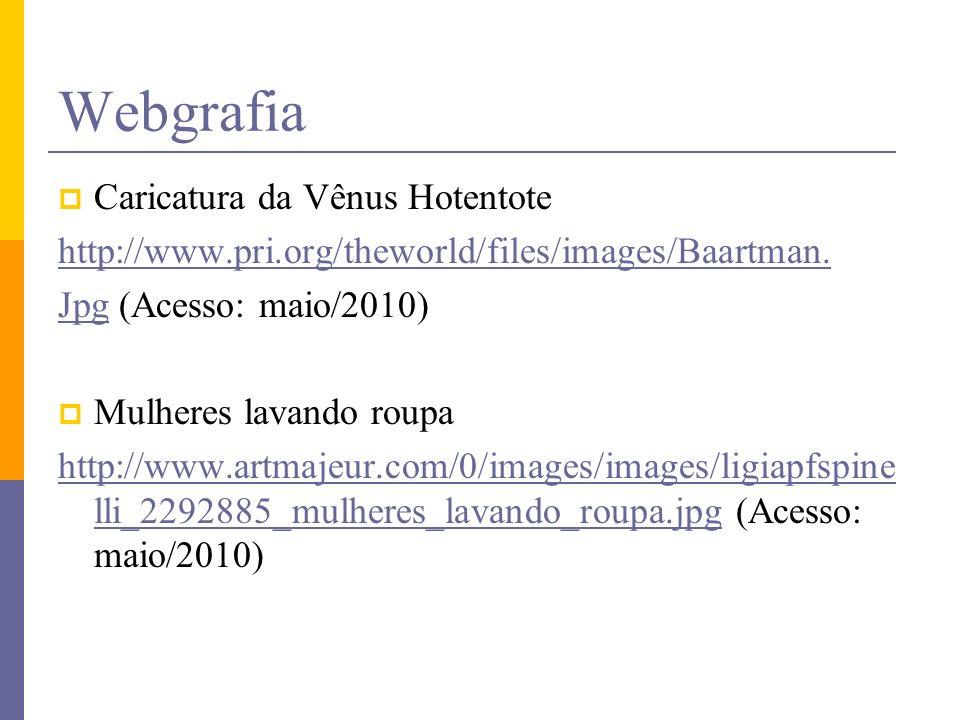 Webgrafia Caricatura da Vênus Hotentote