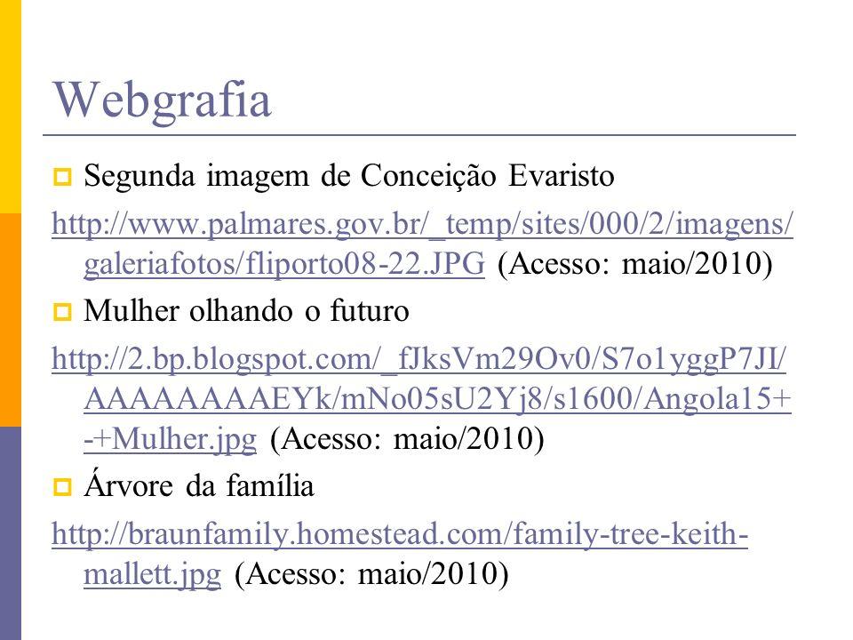 Webgrafia Segunda imagem de Conceição Evaristo
