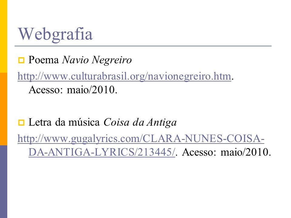 Webgrafia Poema Navio Negreiro