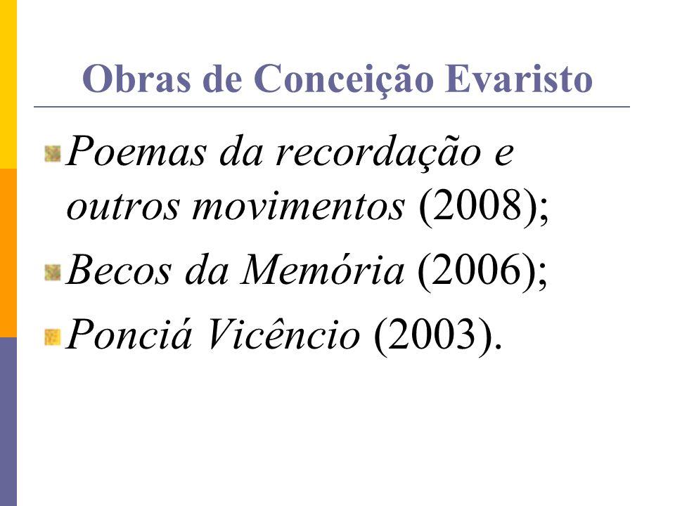 Obras de Conceição Evaristo