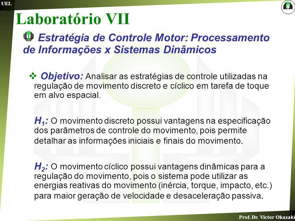 Laboratório VIIEstratégia de Controle Motor: Processamento de Informações x Sistemas Dinâmicos.