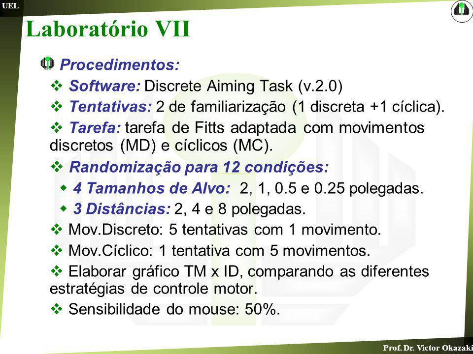 Laboratório VII Randomização para 12 condições: Procedimentos: