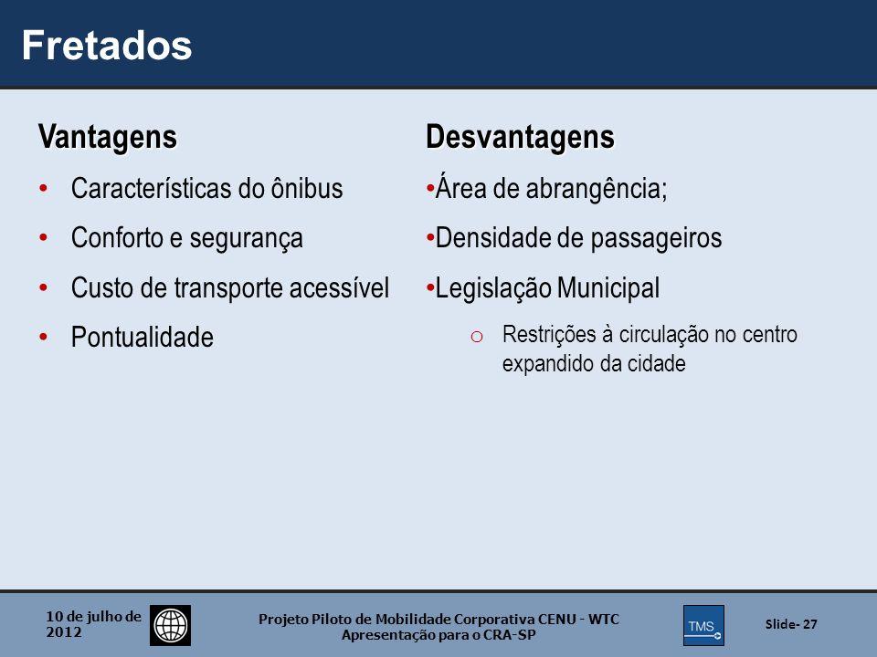 Fretados Vantagens Desvantagens Características do ônibus