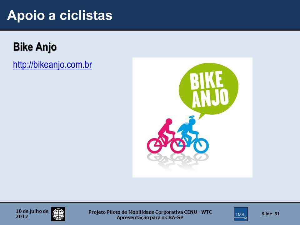 Apoio a ciclistas Bike Anjo http://bikeanjo.com.br