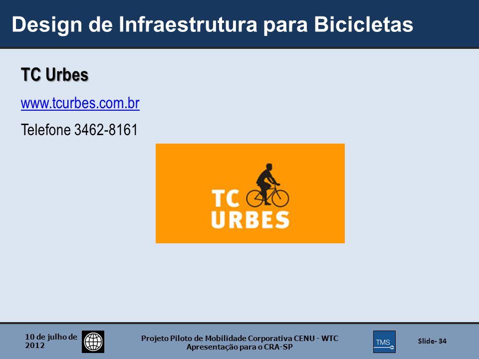Design de Infraestrutura para Bicicletas