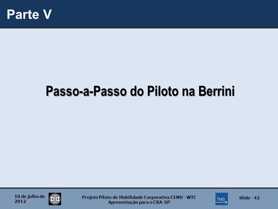 Passo-a-Passo do Piloto na Berrini