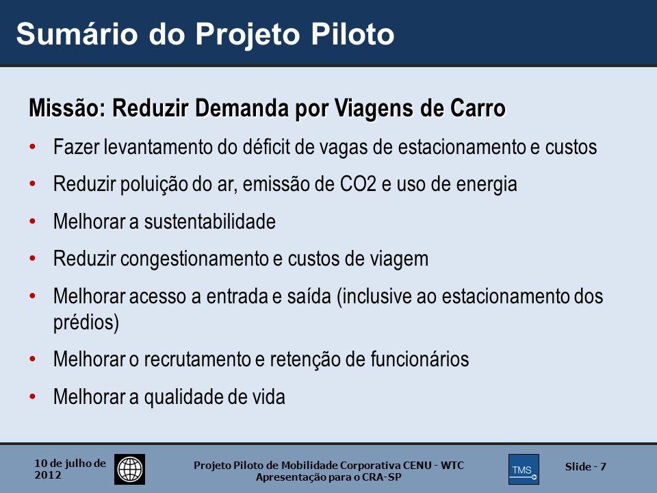Sumário do Projeto Piloto