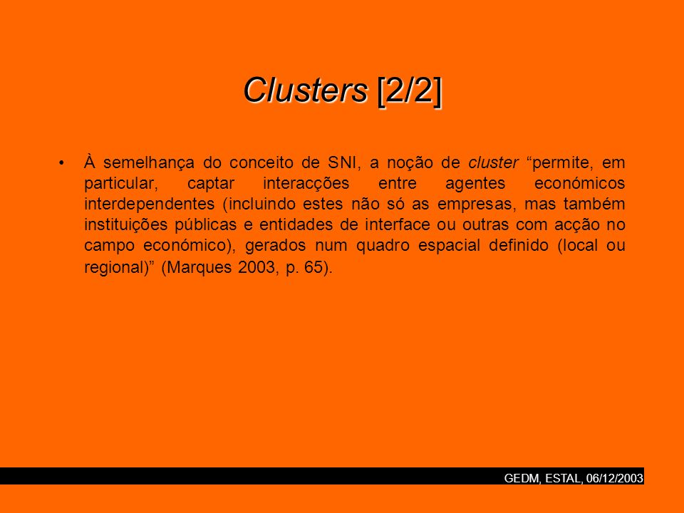 Clusters [2/2]