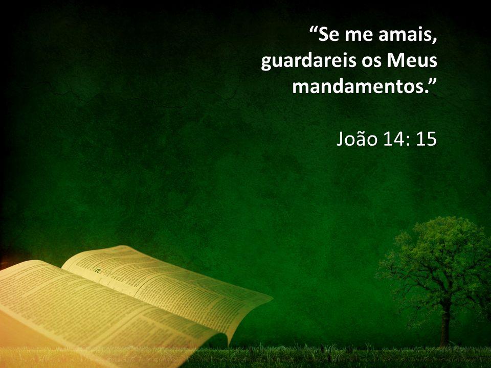 Se me amais, guardareis os Meus mandamentos.