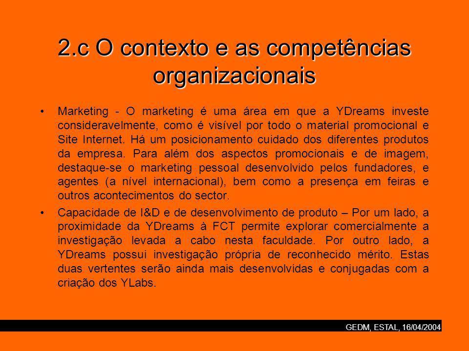 2.c O contexto e as competências organizacionais