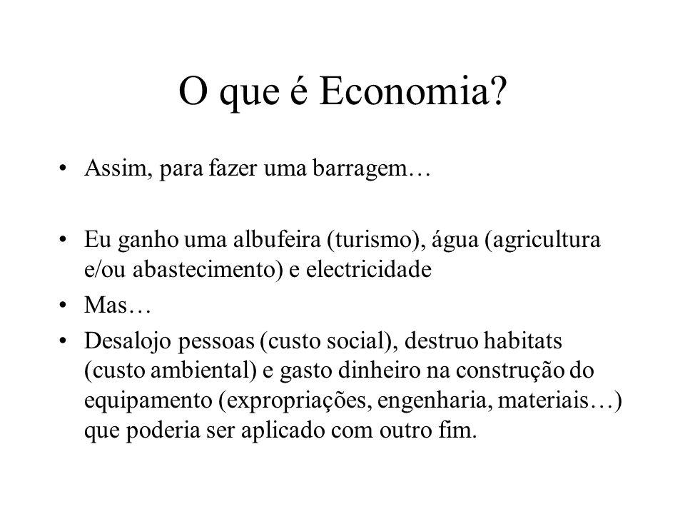 O que é Economia Assim, para fazer uma barragem…