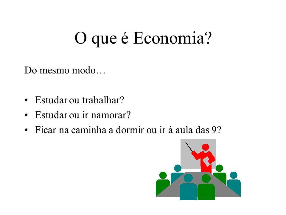 O que é Economia Do mesmo modo… Estudar ou trabalhar