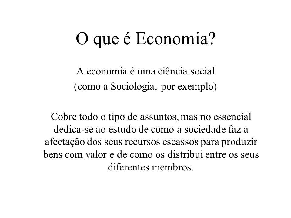O que é Economia A economia é uma ciência social