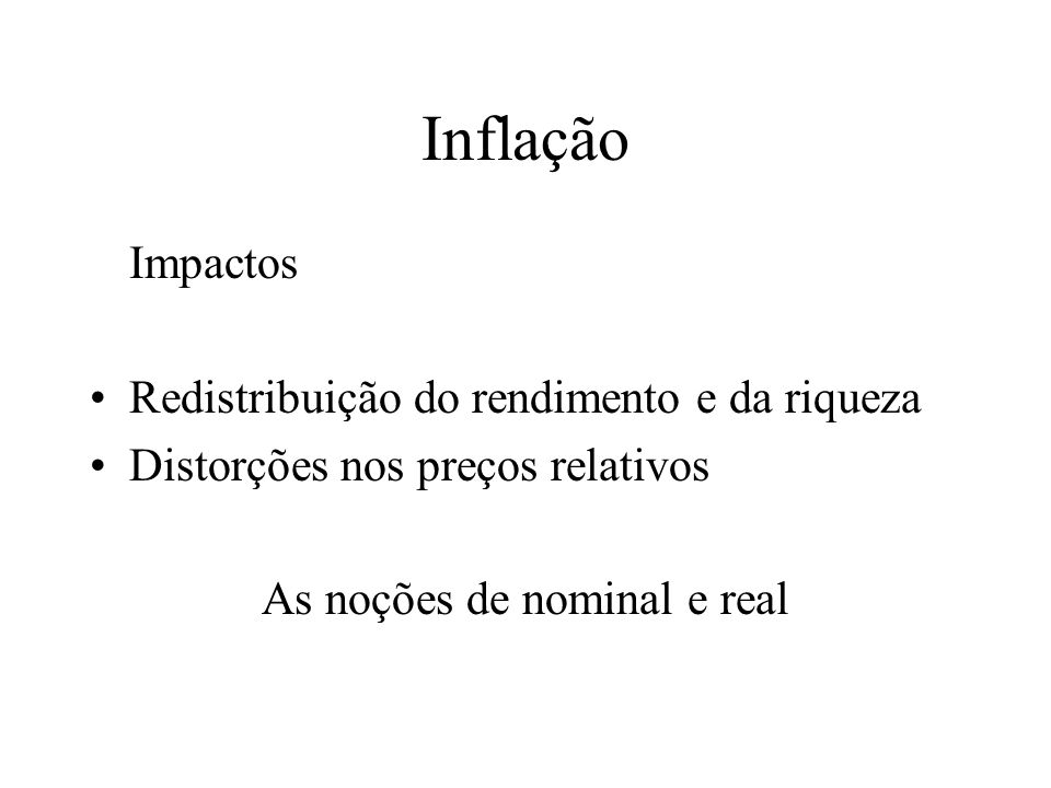As noções de nominal e real