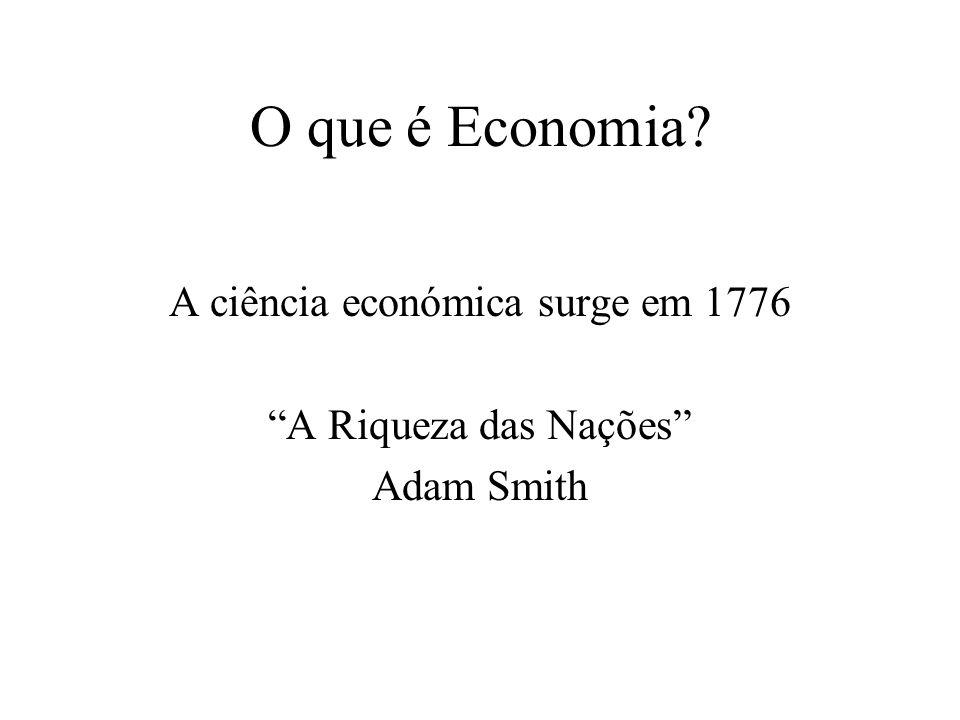 A ciência económica surge em 1776