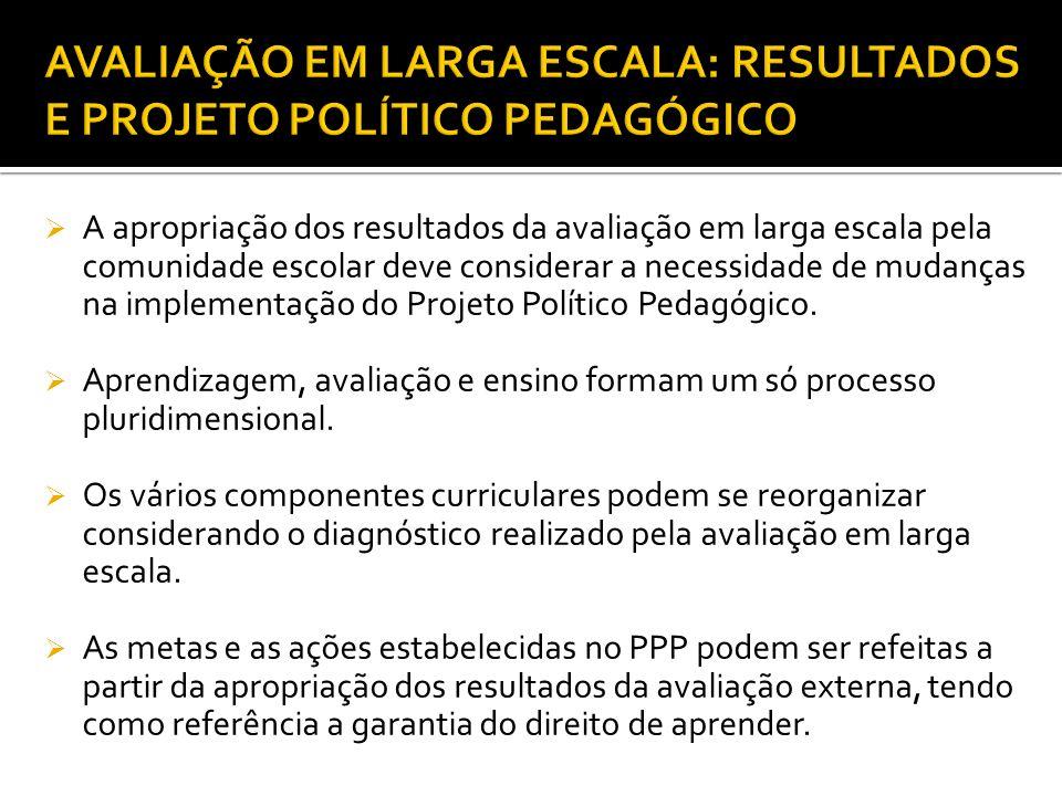 AVALIAÇÃO EM LARGA ESCALA: RESULTADOS E PROJETO POLÍTICO PEDAGÓGICO