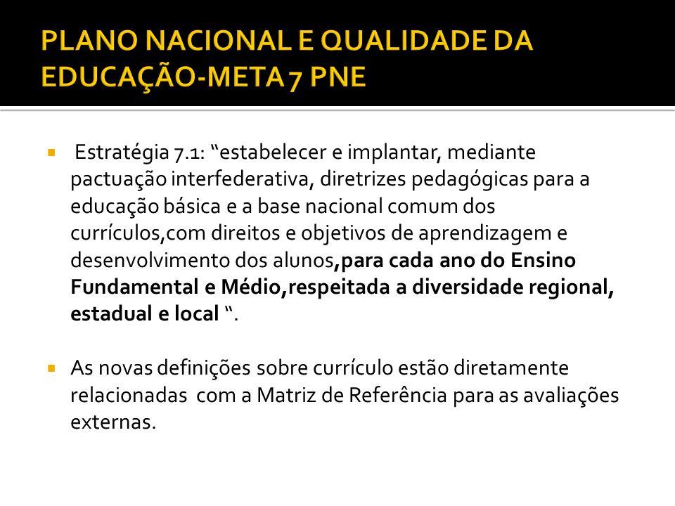 PLANO NACIONAL E QUALIDADE DA EDUCAÇÃO-META 7 PNE