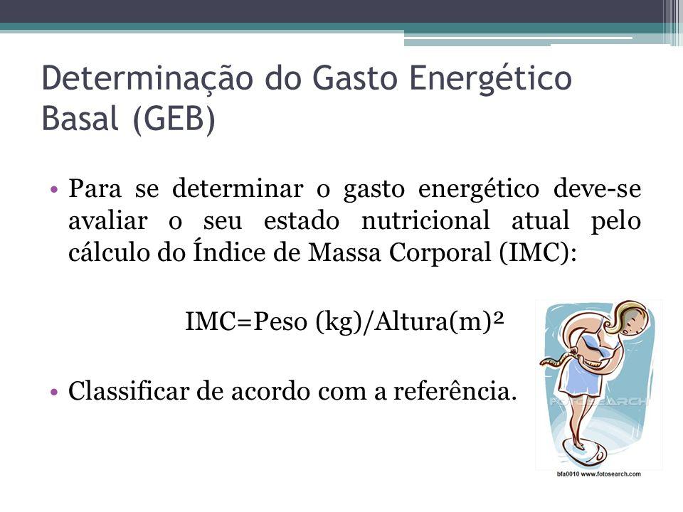 Determinação do Gasto Energético Basal (GEB)