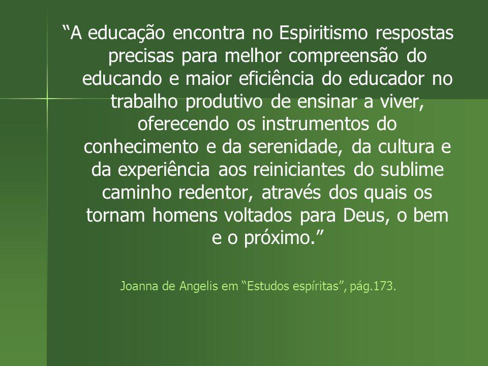 Joanna de Angelis em Estudos espíritas , pág.173.