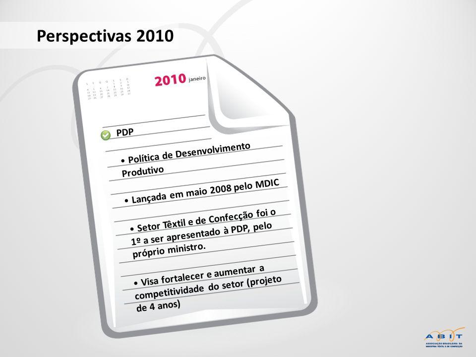Perspectivas 2010 PDP Política de Desenvolvimento Produtivo