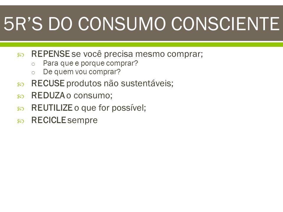 5R'S DO CONSUMO CONSCIENTE