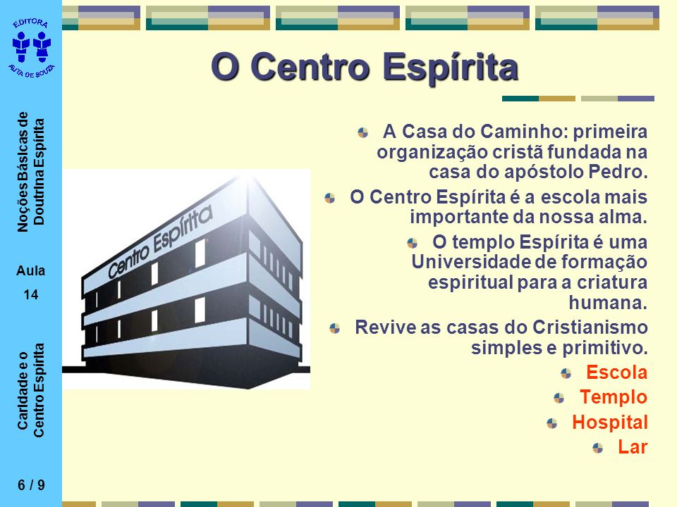 O Centro EspíritaA Casa do Caminho: primeira organização cristã fundada na casa do apóstolo Pedro.