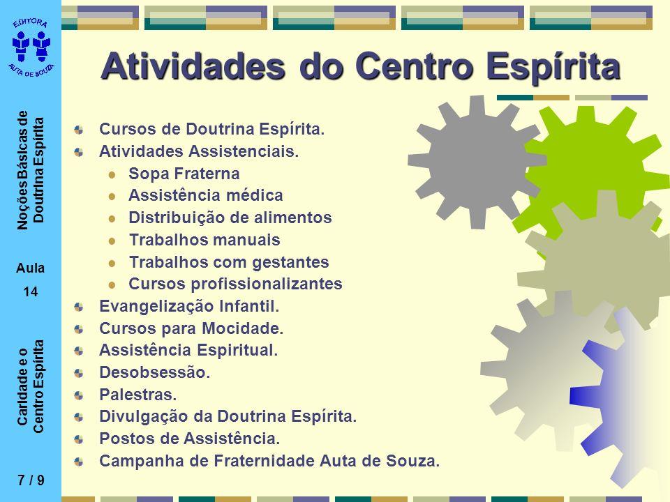Atividades do Centro Espírita