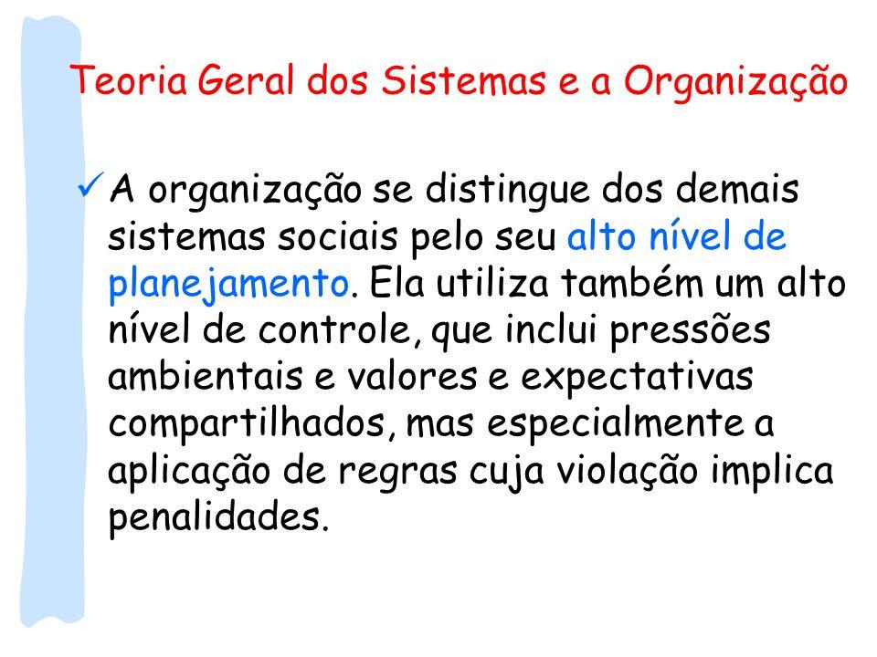 Teoria Geral dos Sistemas e a Organização