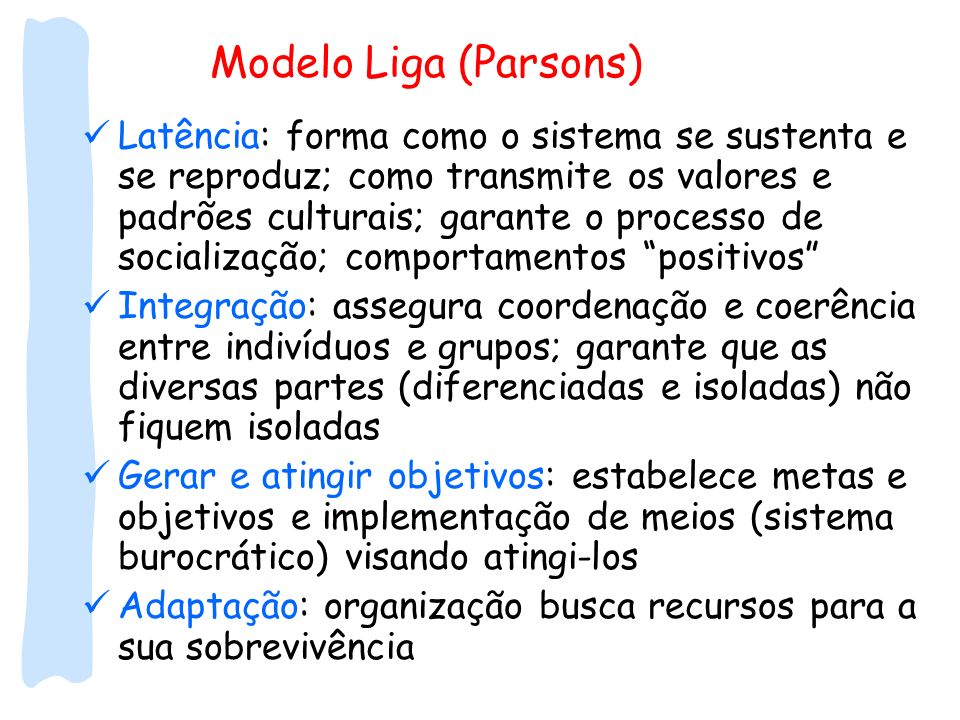 Modelo Liga (Parsons)