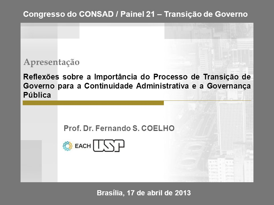 Prof. Dr. Fernando S. COELHO