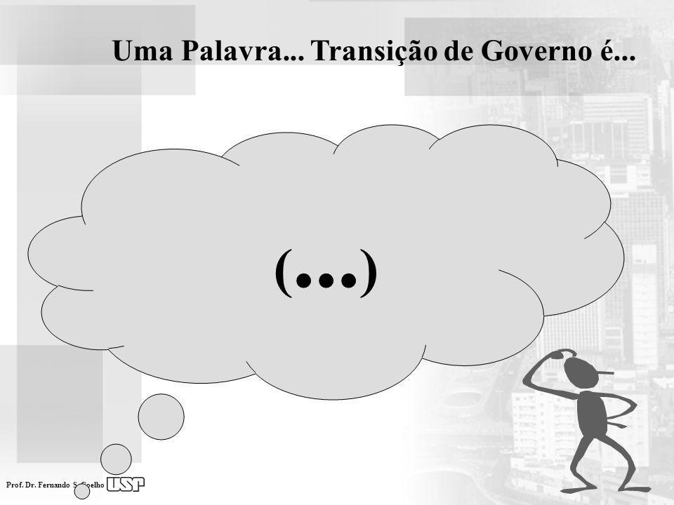 Uma Palavra... Transição de Governo é...