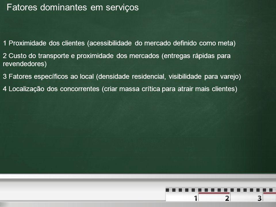 Fatores dominantes em serviços