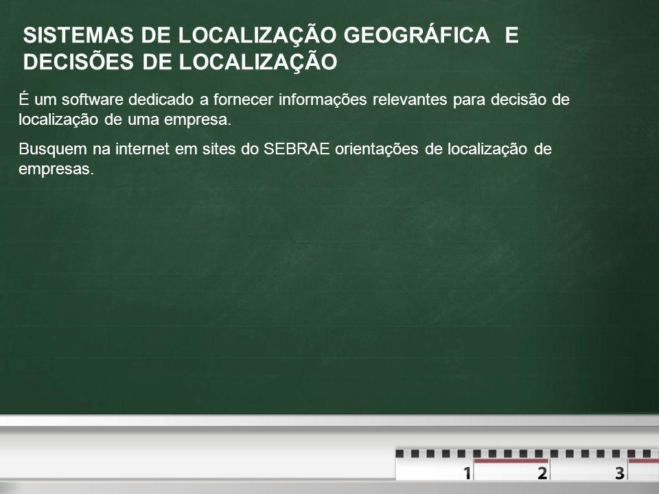 SISTEMAS DE LOCALIZAÇÃO GEOGRÁFICA E DECISÕES DE LOCALIZAÇÃO