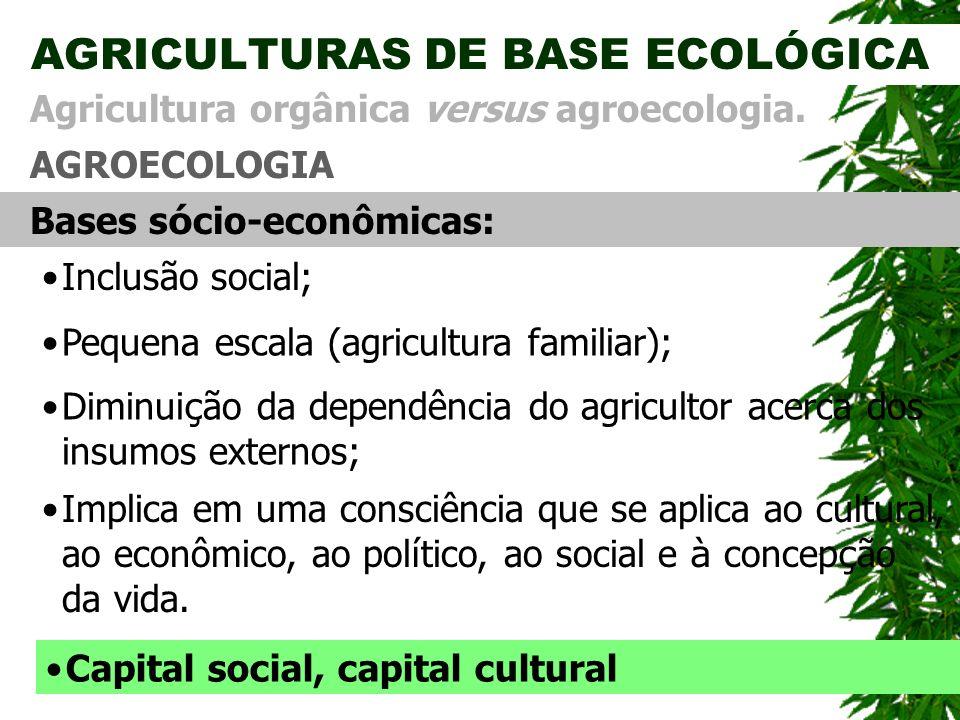 AGRICULTURAS DE BASE ECOLÓGICA