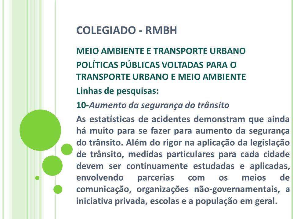 COLEGIADO - RMBH MEIO AMBIENTE E TRANSPORTE URBANO