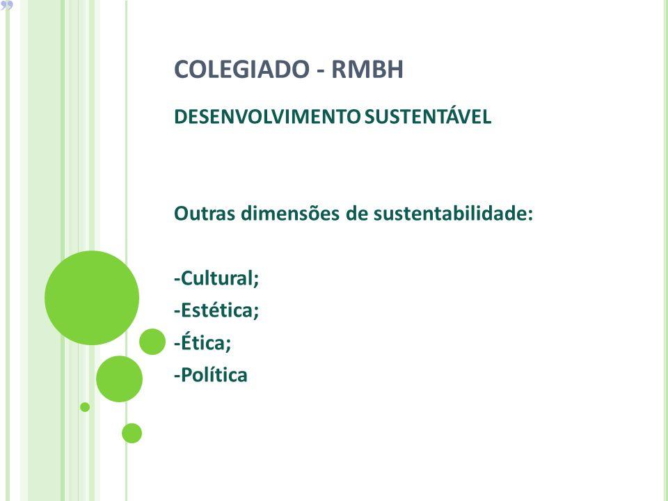 COLEGIADO - RMBH DESENVOLVIMENTO SUSTENTÁVEL