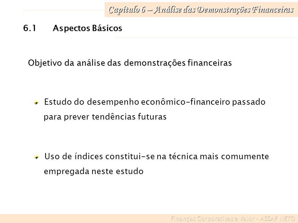 Capítulo 6 – Análise das Demonstrações Financeiras