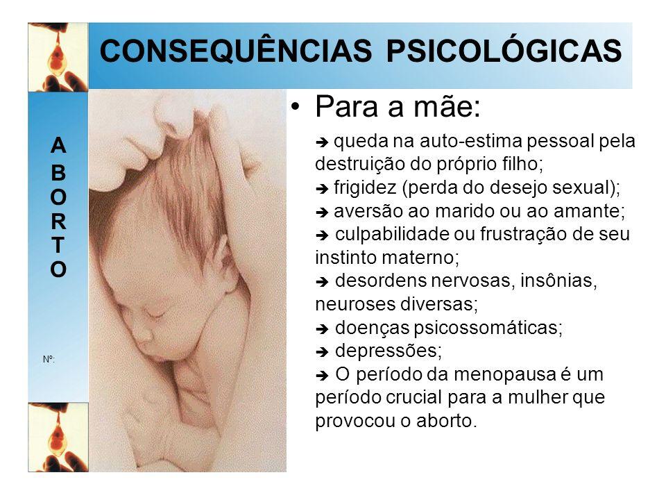 CONSEQUÊNCIAS PSICOLÓGICAS