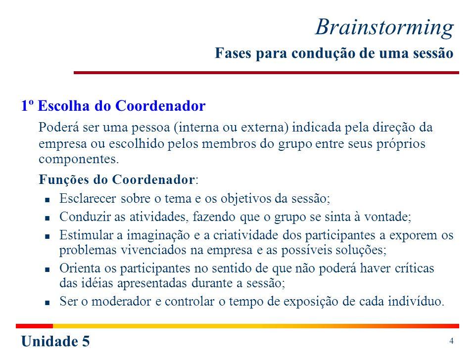 Brainstorming Fases para condução de uma sessão